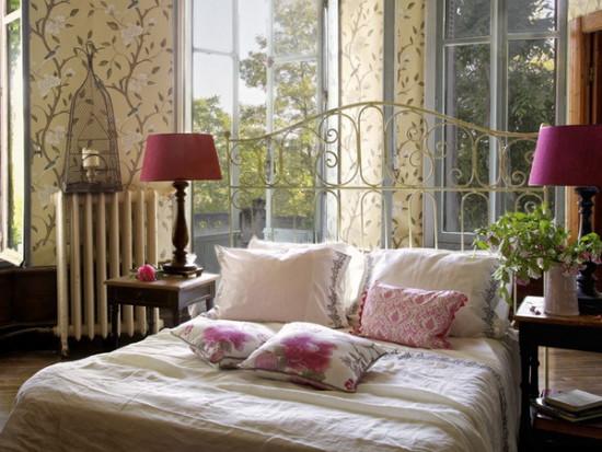 интерьер спальни во французском стиле