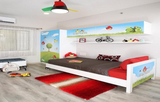 детская комната для мальчика angry birds