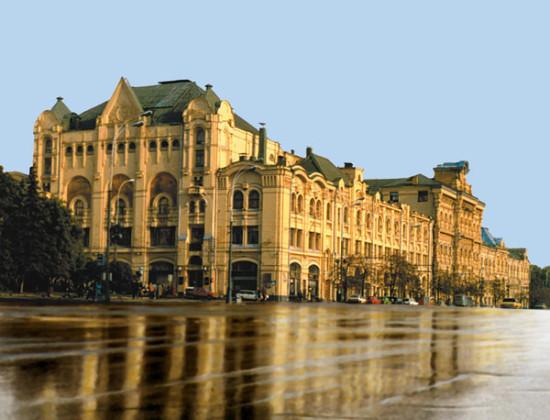 на Новой площади по проекту архитекторов Ипполита Монигетти и Николая Шохина