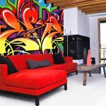 Как рисовать граффити в интерьере