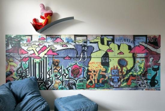граффити в интерьере