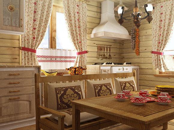 Деревенский интерьер в русском стиле