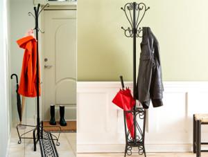 Вешалка напольная для одежды — эстетично и компактно