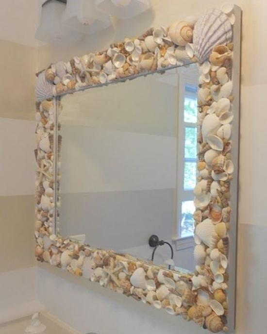 Homemade mirror decoration