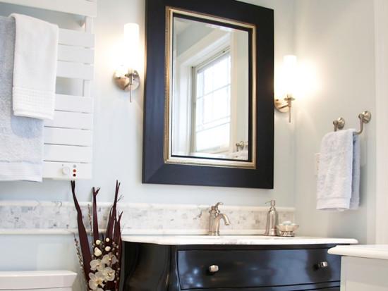 White bathroom mirror