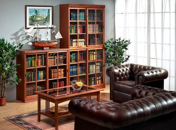 книжный шкаф со стеклом