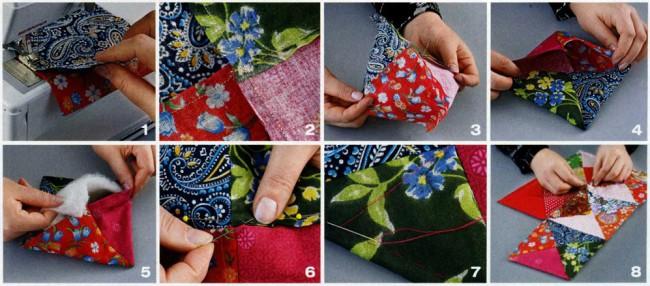 Шьем из кусочков ткани своими руками