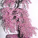 Деревья из бисера — миниатюры ручной работы