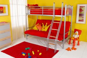 Кровать-чердак с диваном — яркий стиль и отличный комфорт