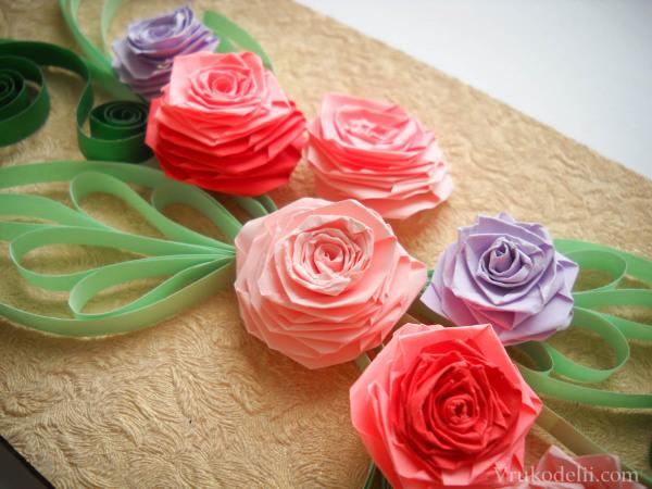 как из бумаги сделать розу