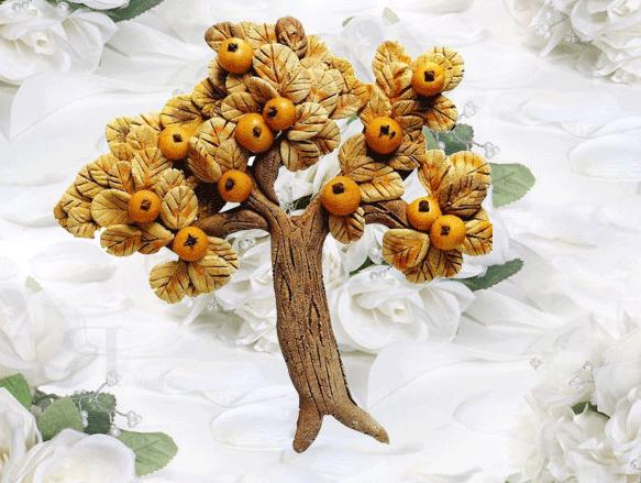 Дерево из теста своими руками