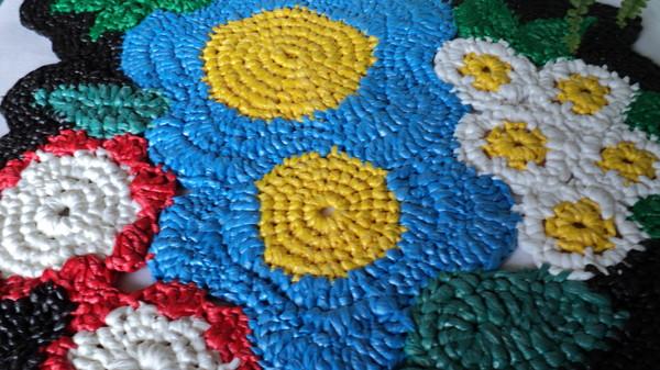 вязание крючком ковриков