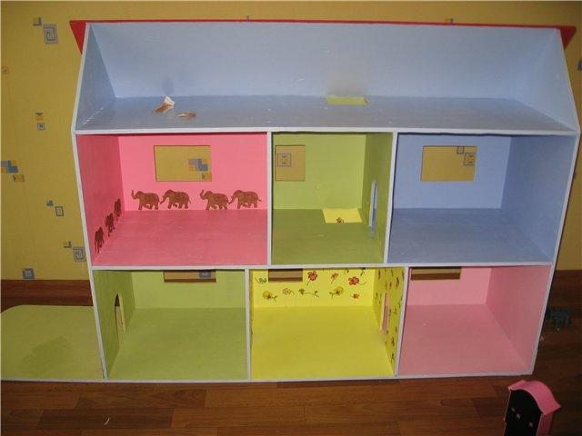 Мебель для кукольного домика своими руками из картона фото