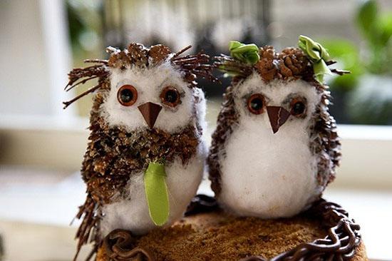 Птица своими руками из природных материалов фото