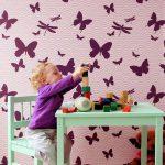 Как использовать трафареты бабочек в интерьере