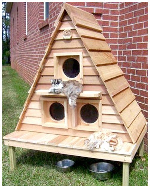 Уличный дом для котов своими руками фото