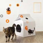 Оригинальный домик для кошки своими руками