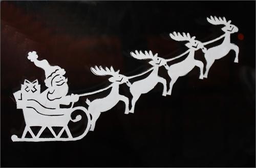 новогоднее украшение окон