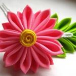 Шикарные декоративные цветы из лент своими руками