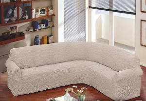 Покрывало на угловой диван — виды, материалы, дизайн