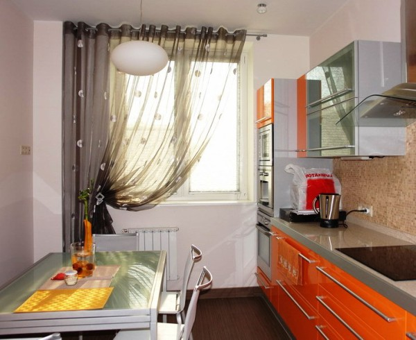 тюль фото кухня