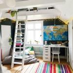 Кровать-чердак с рабочей зоной — комплект для отдыха и учебы