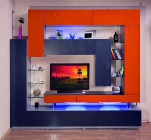 Модульные стенки для гостиной — функциональная эстетика