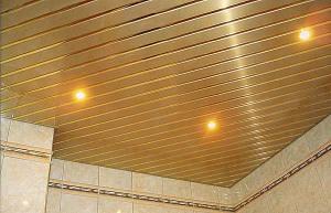 Что такое реечные потолки и подходят ли они для ванной