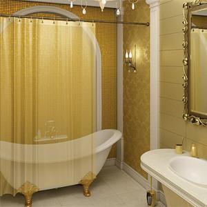 Еще больше уюта: шторы для ванной комнаты